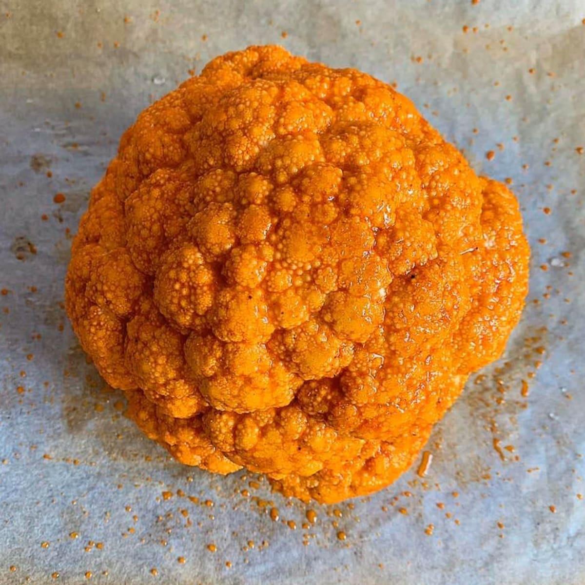 Coliflor entera al horno con Pimentón