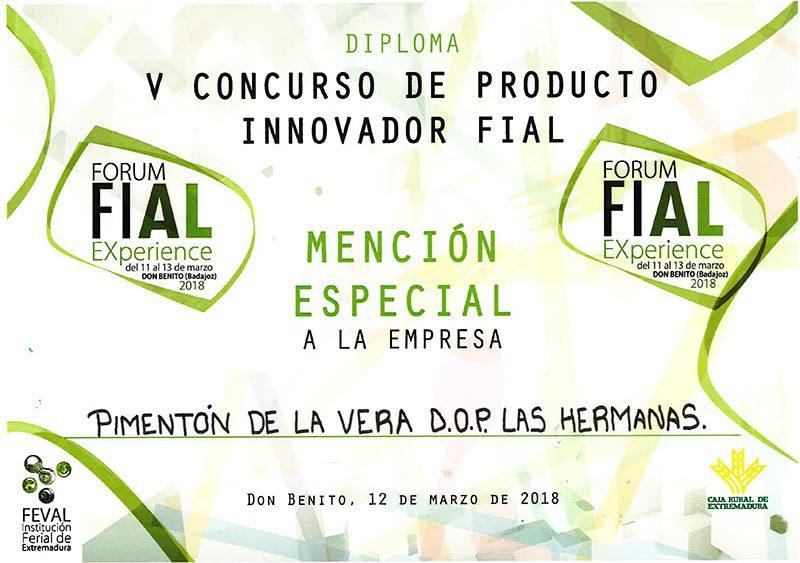 Premios Innovador Fiala Pimentón de la Vera Las Hermanas