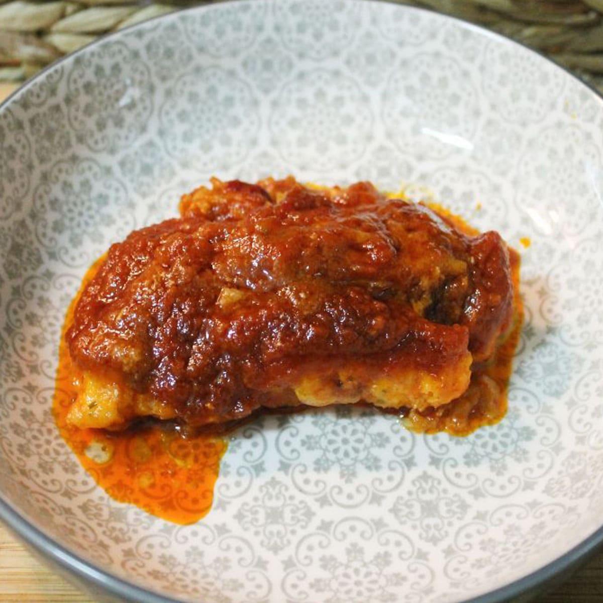 Bacalao con tomate y Pimentón de la Vera Las Hermanas