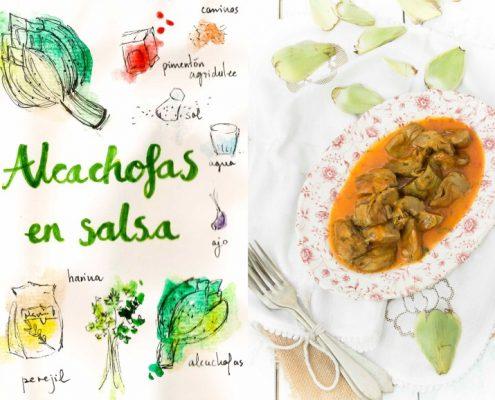 Alcachofas en Salsa de Pimentón