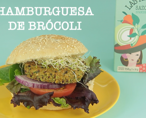 Hamburguesa de brocoli Las Hermanas