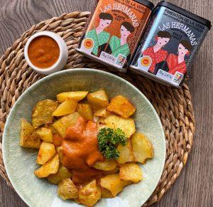 patatas al horno con salsa brava