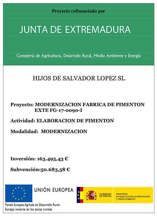 Proyectos Cofinanciados Junta de Extremadura y Fondo Europeo